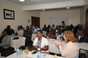 A cross-section of the audience receiving well the presentations given by NFZ staff.