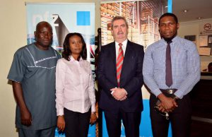 The managing director, Kevin O' Connor (2nd from the right) with our In-house NEPZA officials of Nahco Free Trade Zone.